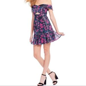 WAYF Floral Off the Shoulder Mini Dress NWT